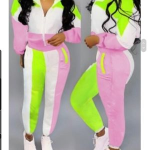 "Nylon summer"" jogging suit "" womens new Athleisur"